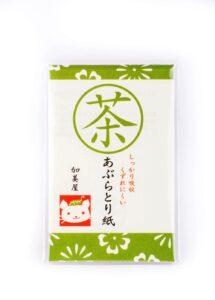 Papier matifiant thé vert 6,90€