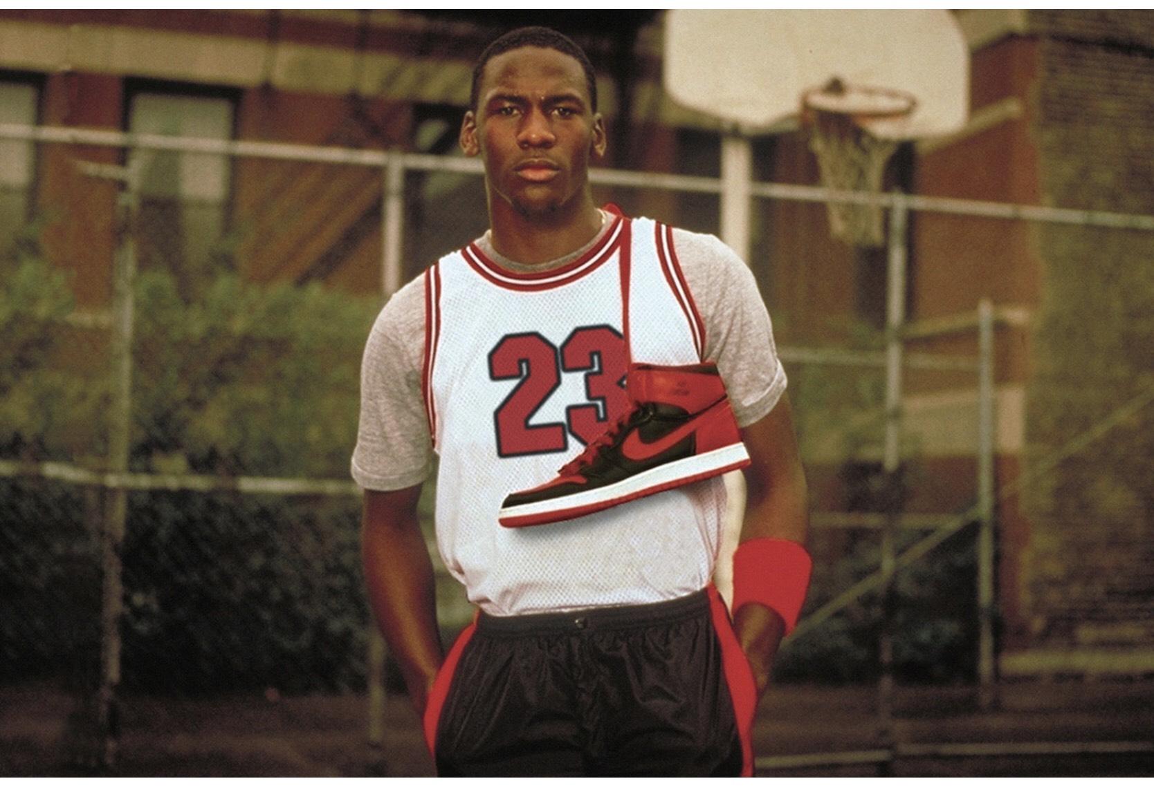Michael Jordan et la Air Jordan Bred Banned